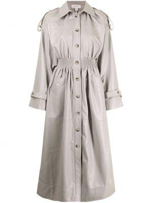 Серое длинное пальто Matériel