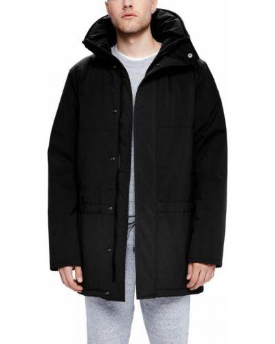 Длинная куртка черная тонкая Kanuk
