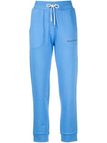 Хлопковые синие брюки с карманами на шнурках Walk Of Shame
