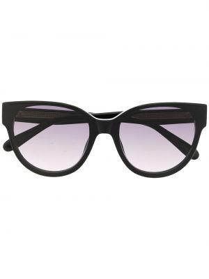 Czarne okulary z printem Mulberry