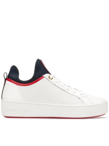 Skórzane sneakersy białe codziennie Michael Michael Kors