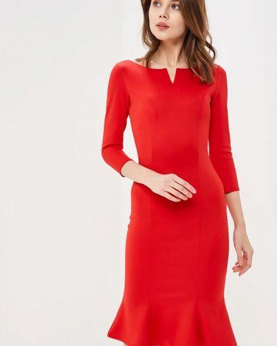 Красное платье весеннее City Goddess