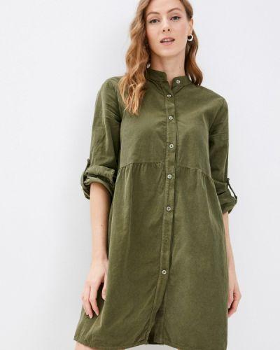 Платье рубашка - зеленое Haily's
