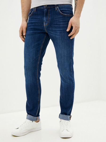 Синие зауженные джинсы-скинни из микрофибры Colin's