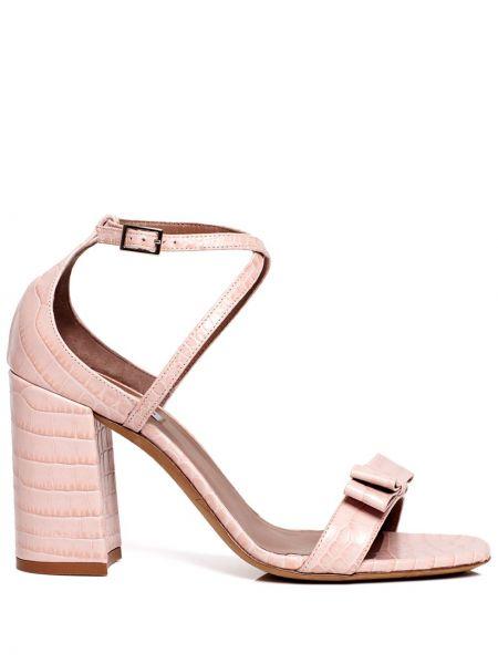 Różowe sandały skorzane klamry Tabitha Simmons