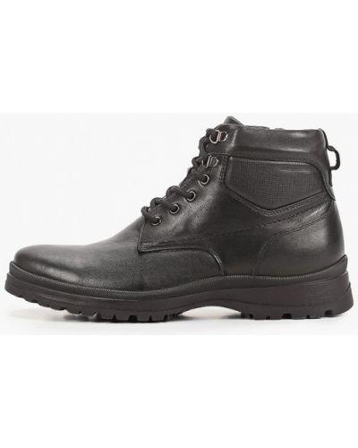 Черные кожаные ботинки Thomas Munz