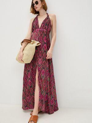 Пляжное розовое платье Luli Fama