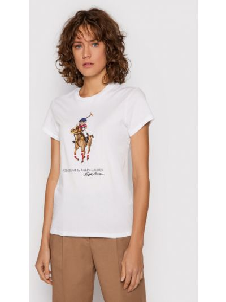Biała t-shirt Polo Ralph Lauren