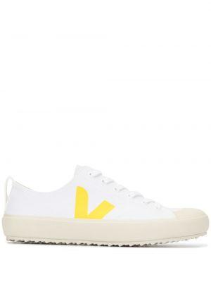 Кеды на шнуровке - белые Veja