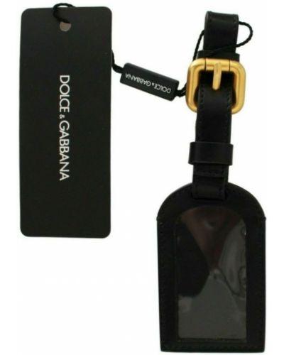 Czarny łańcuszek skórzany na co dzień Dolce And Gabbana