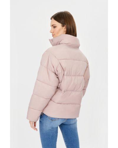 Утепленная розовая дутая куртка оверсайз Baon