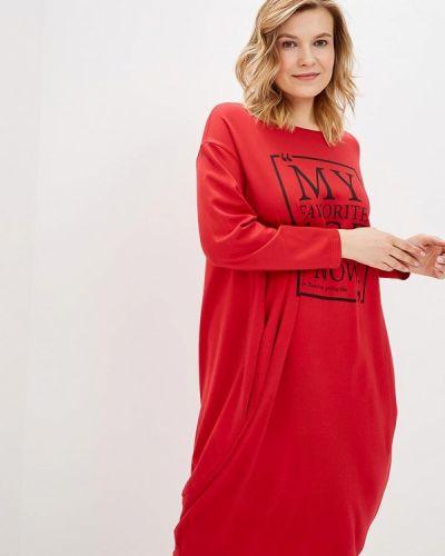 Повседневное платье весеннее красный Lina