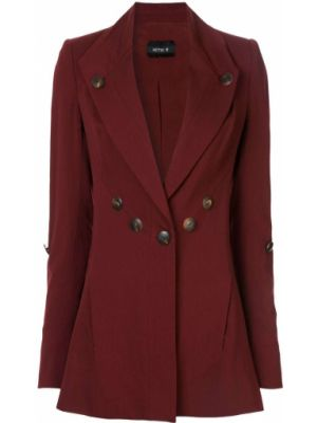 Шерстяной приталенный пиджак на пуговицах с лацканами Kitx