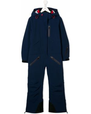 С рукавами синий комбинезон с карманами на молнии Perfect Moment Kids