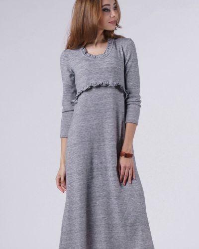 Платье осеннее серое Evercode