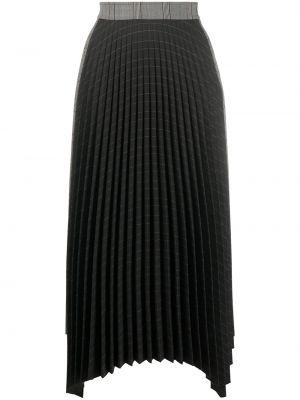 Czarna spódnica midi z wysokim stanem asymetryczna Mrz
