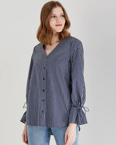 Синяя блузка с рюшами Vero Moda