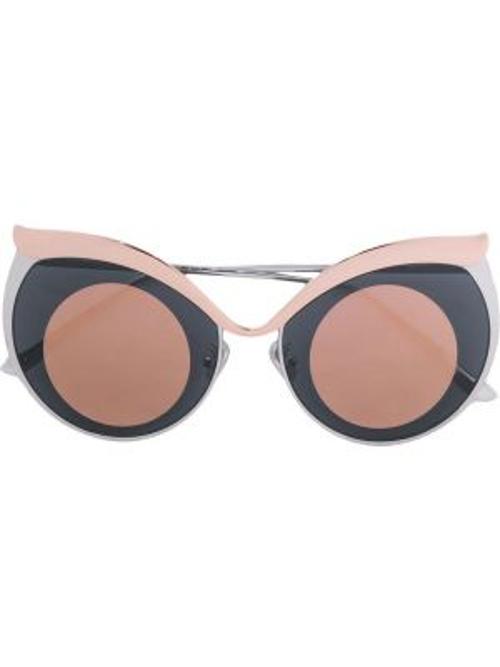 Солнцезащитные очки металлические хаки Boucheron Eyewear