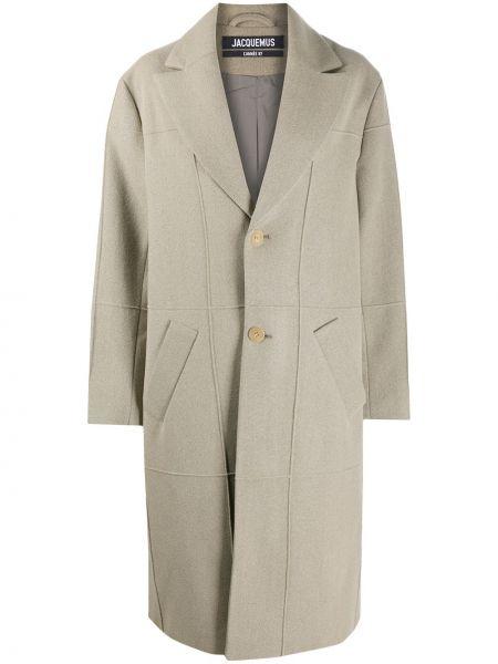 Płaszcz wełniany - brązowy Jacquemus