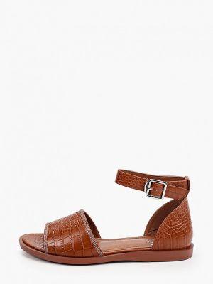 Коричневые кожаные сандалии Inario