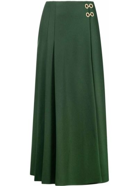 Зеленая шерстяная юбка Alberta Ferretti