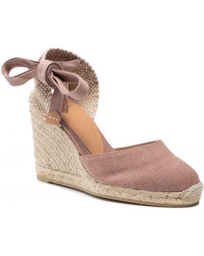 Różowe sandały Castaner