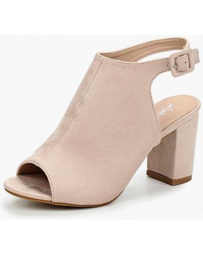 Бежевые босоножки на каблуке Style Shoes
