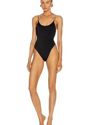 Домашний черный слитный купальник Versace