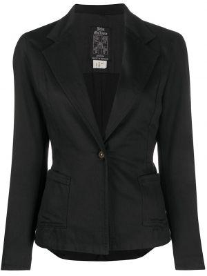 Черный приталенный пиджак с карманами John Galliano Pre-owned