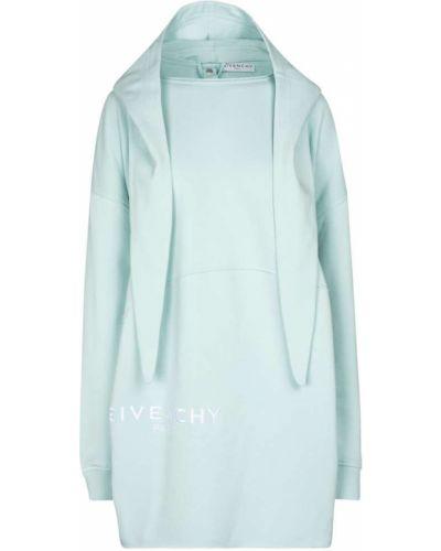 Bawełna bawełna niebieski bluza z kapturem Givenchy