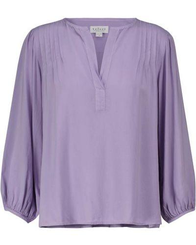 Блузка с V-образным вырезом - фиолетовая Velvet