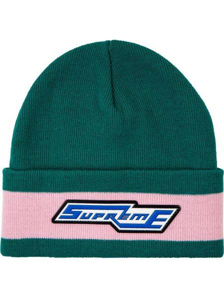 Zielona czapka bawełniana Supreme