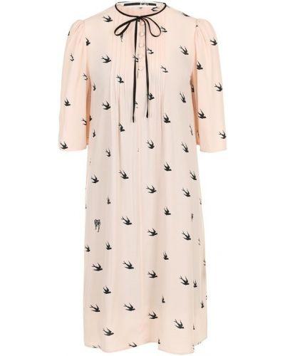 Платье мини свободного кроя из вискозы Mcq