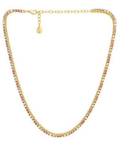 Różowy złoty naszyjnik łańcuch Baublebar