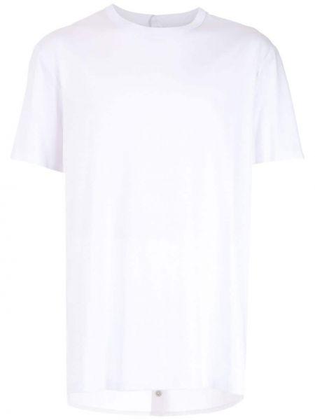 Белая хлопковая футболка свободного кроя с круглым вырезом à La Garçonne