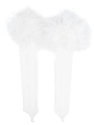 Białe rękawiczki bez palców Loulou