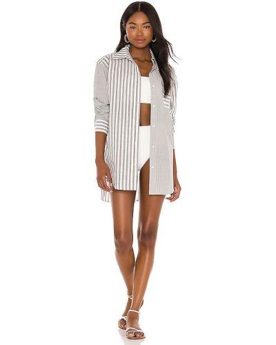 Bawełna bawełna biały tunika z paskami Solid & Striped
