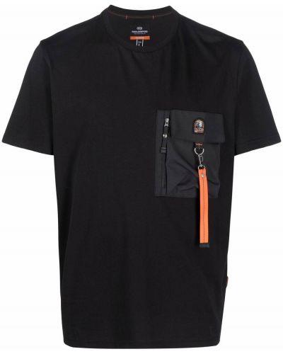 Черная футболка короткая Parajumpers