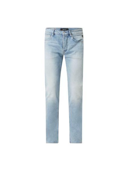 Niebieskie jeansy bawełniane Replay