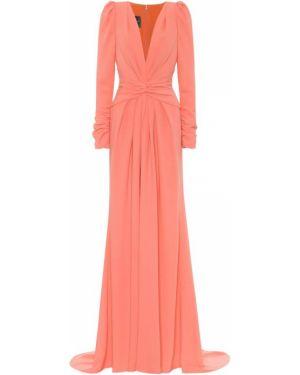 Платье розовое шелковое Monique Lhuillier
