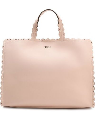 Розовая сумка на руку Furla