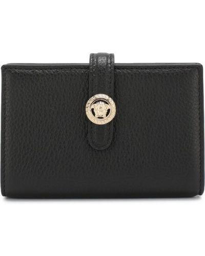 Черный кожаный кошелек Versace