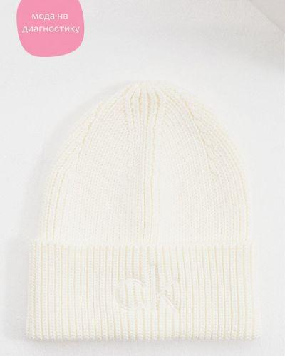 Шапка - белая Calvin Klein