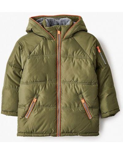 Зеленая утепленная куртка Acoola