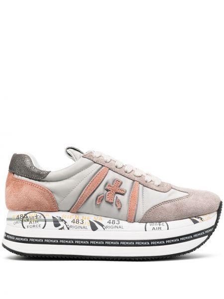 Кожаные кроссовки - серые Premiata