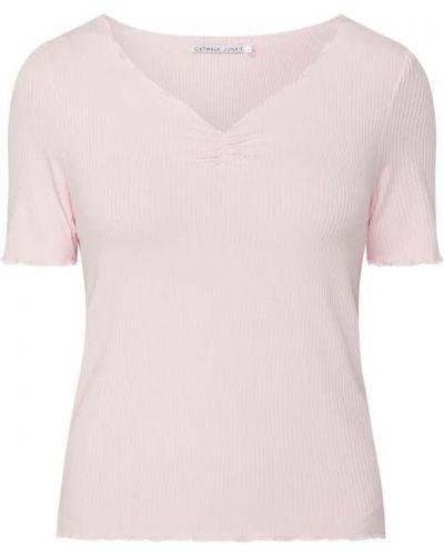 Różowa bluzka krótki rękaw z wiskozy Catwalk Junkie