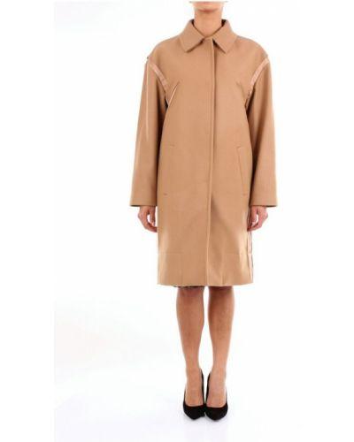 Beżowy długi płaszcz N°21