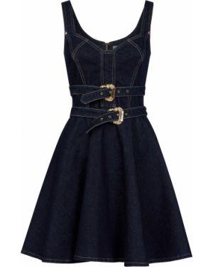Платье осеннее синее Versace Jeans