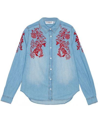 Джинсовая рубашка с вышивкой с орнаментом Essentiel Antwerp