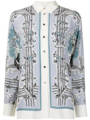 Белая рубашка с длинным рукавом с длинными рукавами Paul Smith